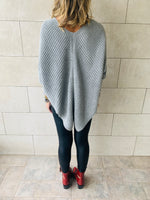 Grey Cable V Poncho