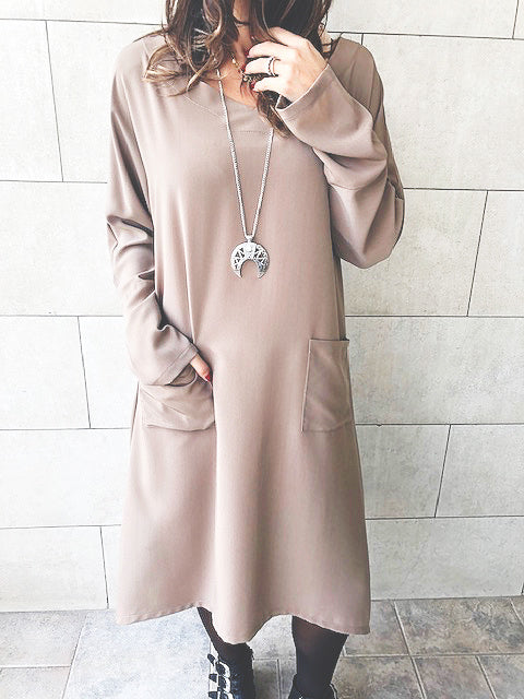 Mocha Double Pocket Tunic