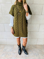Olive Kate Cable Poncho