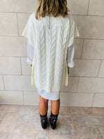 White Kate Cable Poncho