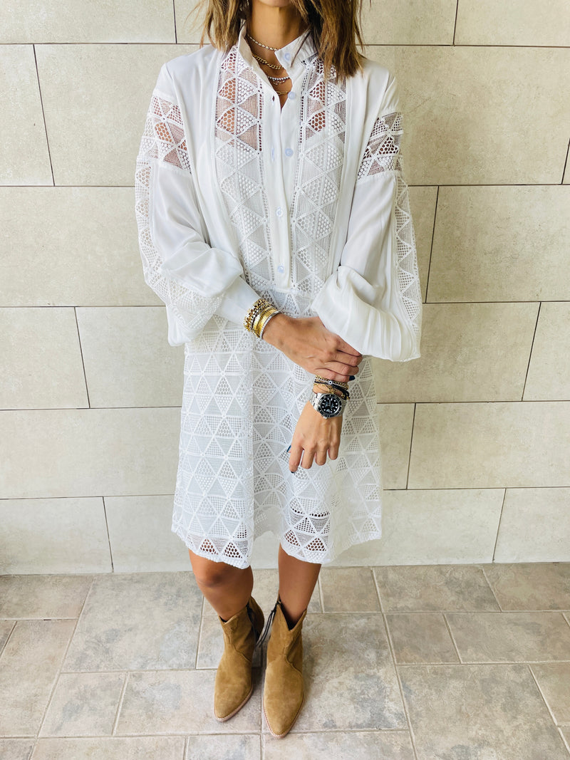 Blue Summer Shirt Dress