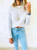 White Cropped Light Knit