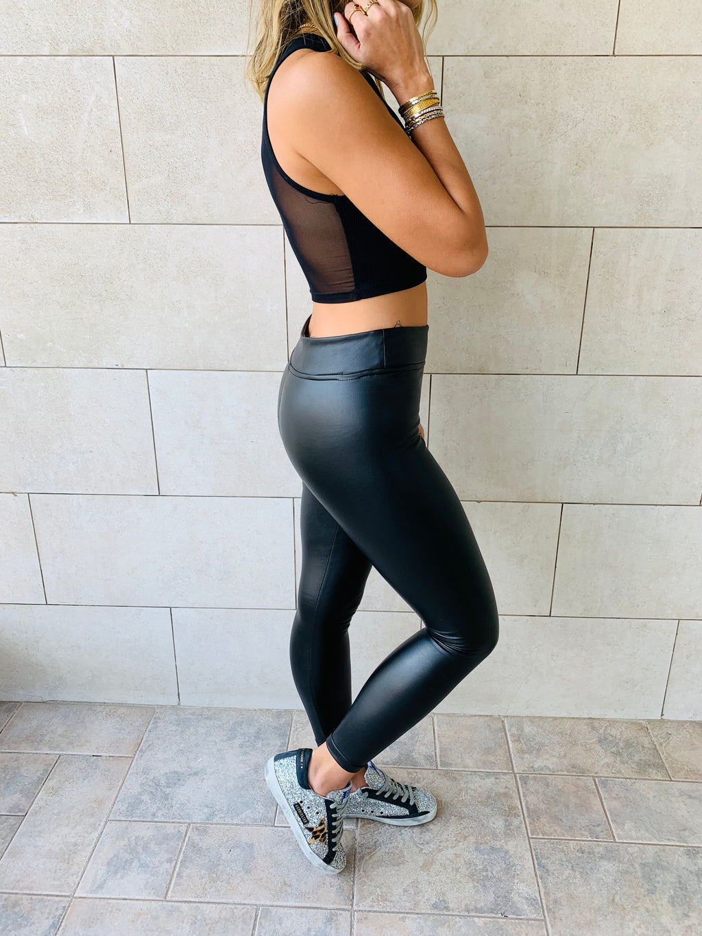 Frillu Leather Signature Fit Leggings