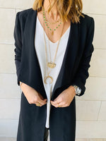 Black Relaxed Jersey Blazer
