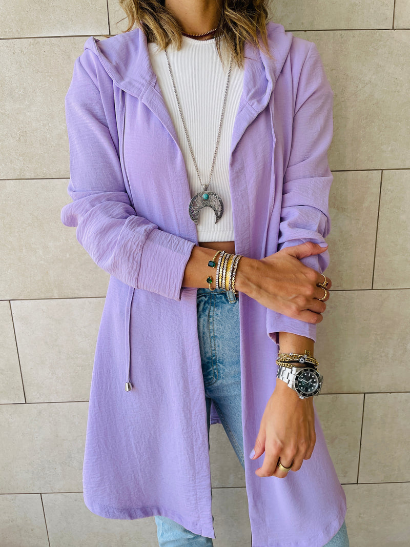 Lilac Light Weight Summer Duster