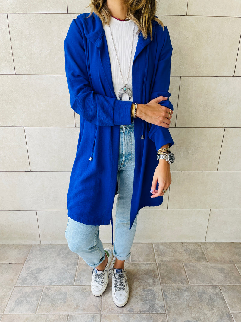 Blue Light Weight Summer Duster