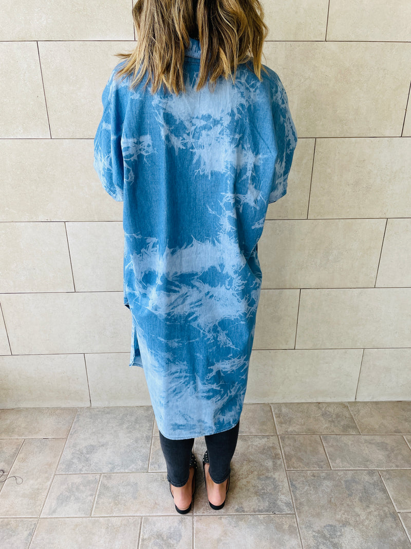 Tie Dye High Low Shirt