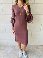 Brown Brooke Knit Dress