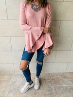 Blush Flowy Sleeve Top
