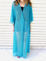 Turquoise Cannes Coverup