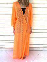 Neon Orange Cannes Coverup