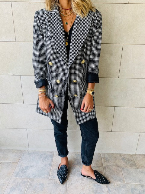 The Luxe Houndstooth Blazer