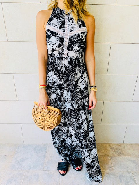 Aloha Black Tie Back Dress