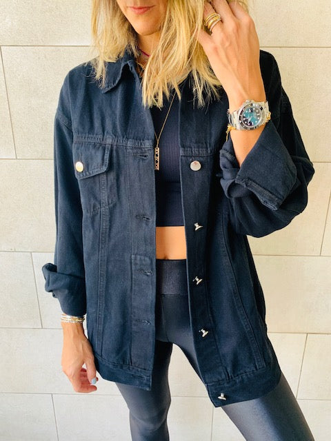 The Grunge Black Denim Jacket