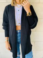 Black Shawl Shrug Cardi