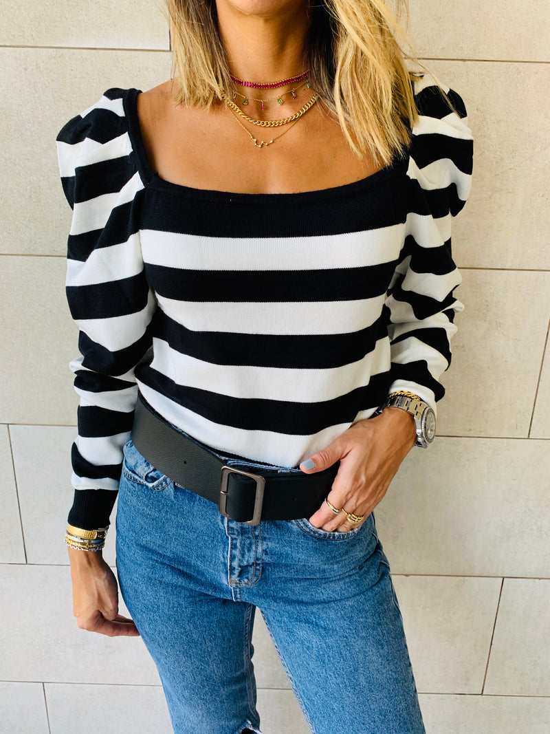 Striped Cropped Knit