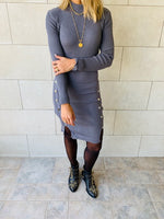 Grey Blitz Knit Dress