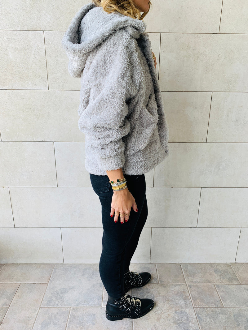 Grey Teddy jacket