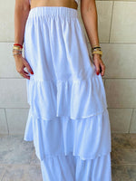 White Tiered Seville Skirt