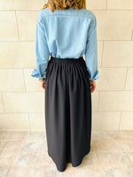 Black Fold-Over Skirt