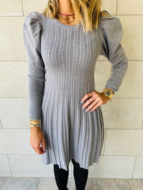 Grey Cable Swing Dress
