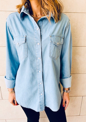 Denim Double Pocket Shirt
