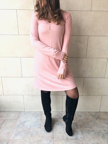 The Blush Flowy Knit Dress