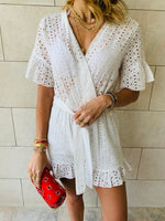 White Anglaise Playsuit