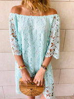 All The Lace Mint Dress