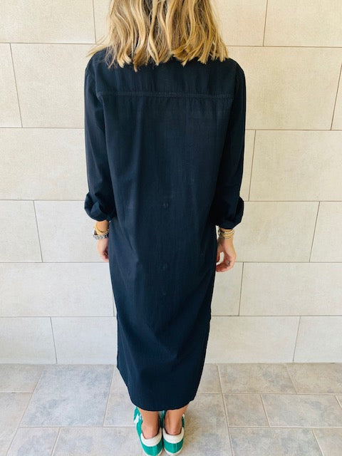 Black Denim Shirt Dress