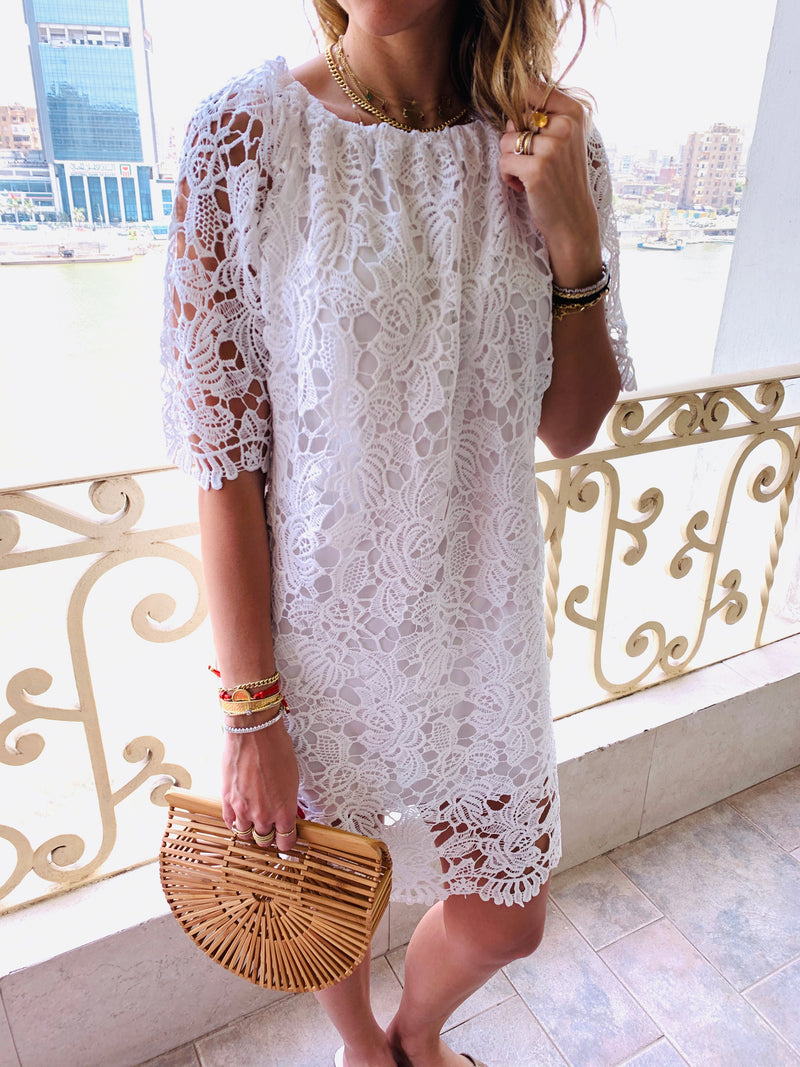 All The Lace White Dress