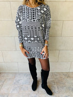 Monochrome Tribal Knit Tunic