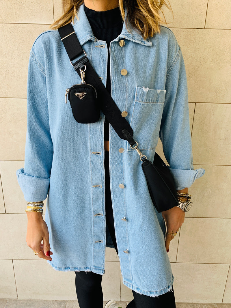 Long Denim Shacket