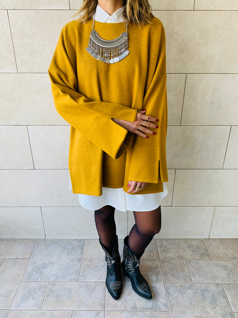 Mustard Warm Me Up Knit Pullover