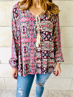 Multi Scarf Print Top