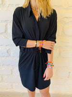 Black Drawstring Shirt
