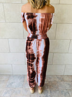 Earth Tones Tie Dye Jumpsuit