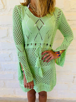 Green Crochet Beach Dress