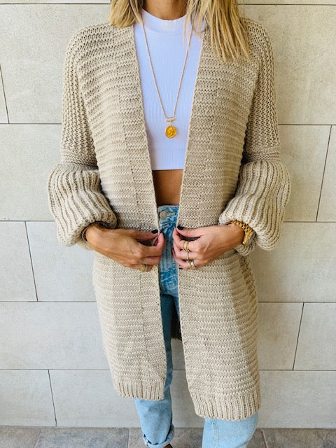 Beige Fluffing Around Cardi