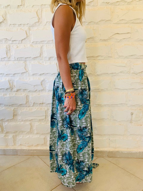 Aloha Greens Wrap Skirt