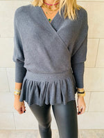 Grey Sophisticated Vee Knit