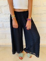 Black Lacey Flare Pants