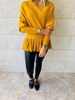 Mustard Sophisticated Vee Knit