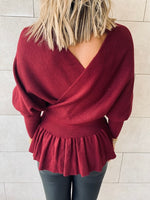 Burgundy Sophisticated Vee Knit