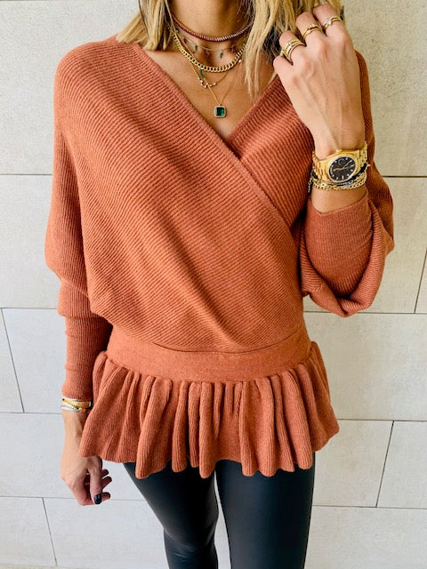Coral Sophisticated Vee Knit