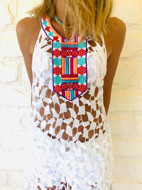 Cleo Embroidered Coverup