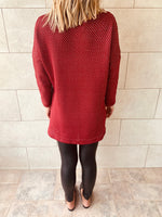 Burgundy Shine On Tunic