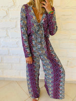 Purple Confetti Jumpsuit