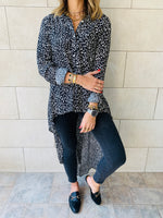 Leo Monochrome High Low Shirt