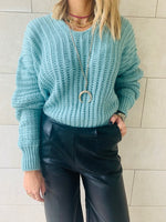 Mint Slouch Pullover